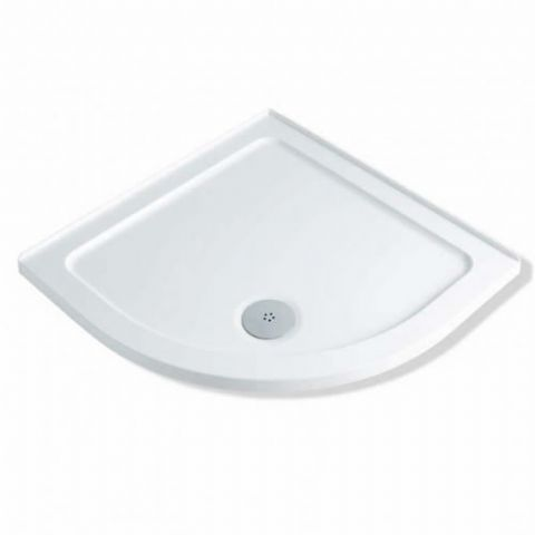 Anti-Slip MX Durastone 900mm x 900mm Low Profile Quadrant Shower Tray with Upstands XGE
